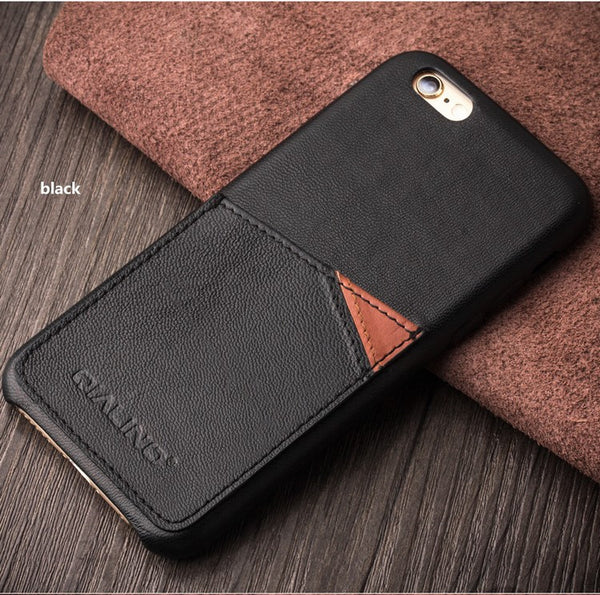iPhone 6 & 6S Genuine Calf Leather Case w/ Card Slots