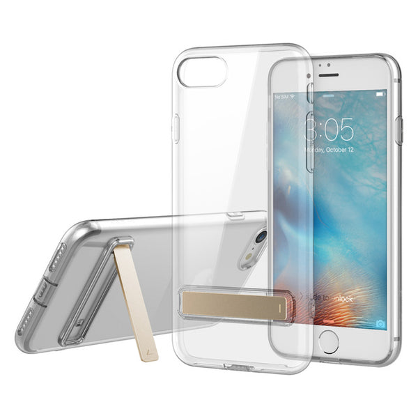 iPhone 8/8 Plus Slim Crystal Clear Stand Phone Case