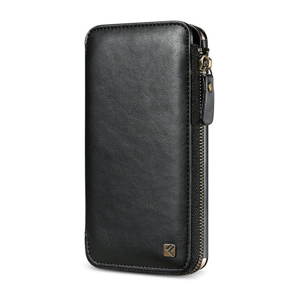 iPhone 6 & 7 Leather Zipper Handbag Case