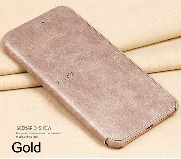 iPhone 8/8 Plus Vintage PU Leather Wallet Flip Case