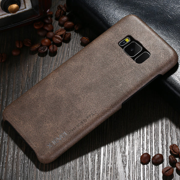 Samsung Galaxy S8 & S8 Plus Smooth Vintage Leather Back Case