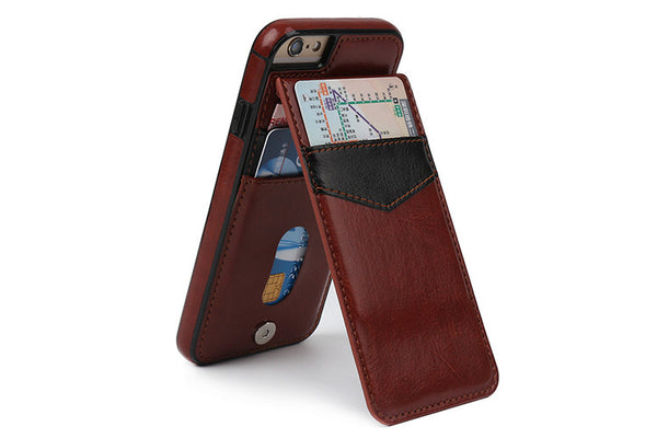 iPhone 6 & 7 Luxury Leather Wallet Cards Buckle Cover