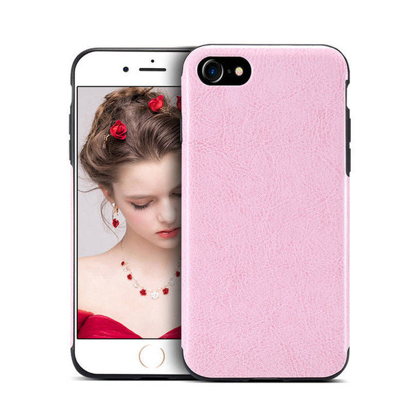 iPhone 6 & 7 Slim Luxury PU Leather Back Case