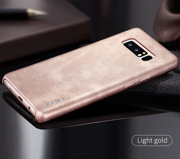 Samsung Galaxy Note 8 Smooth Vintage Leather Back Case
