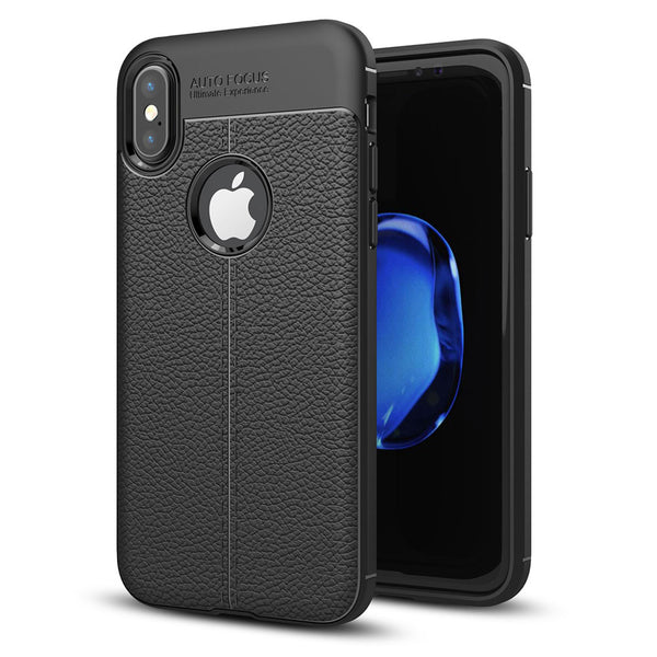iPhone X Slim PU Leather Back Case
