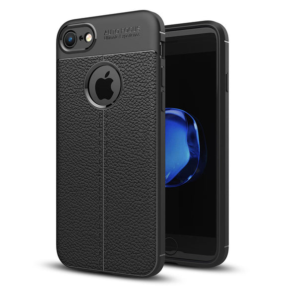 iPhone 8/8 Plus Slim PU Leather Back Case