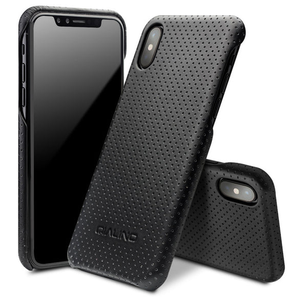 iPhone X Luxury Sporty Genuine Leather Phone Case