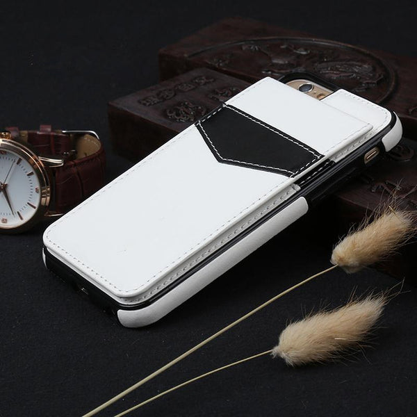 iPhone 8/8 Plus Luxury Leather Wallet Cards Buckle Cover
