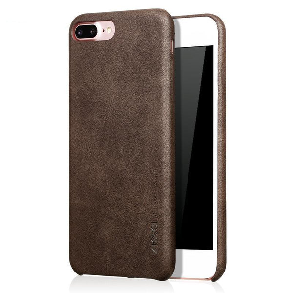 iPhone 8/8 Plus Smooth Vintage Leather Back Case
