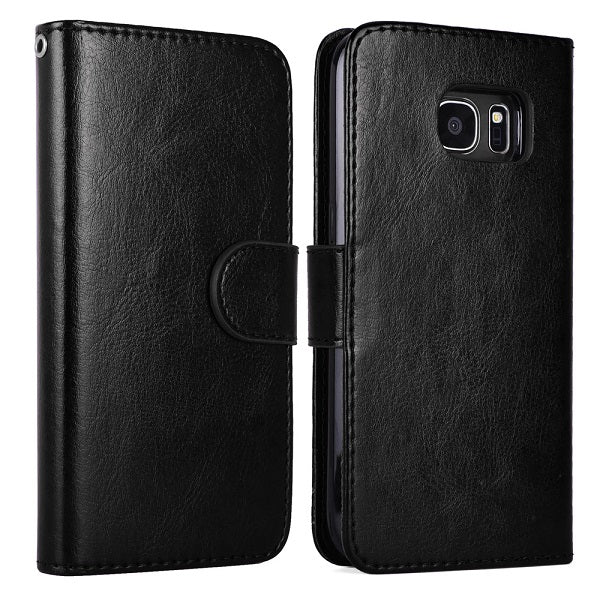 Samsung Galaxy S6 & S7 Magnetic Detachable Wallet Flip Leather Case