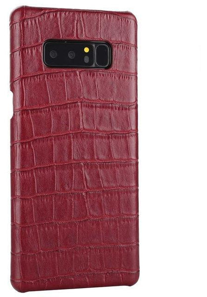 Samsung Galaxy Note 8 Crocodile Pattern Real Genuine Cow Leather Case