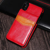 iPhone X Luxury Leather Wallet Cards Buckle Cover