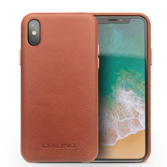iphone XS Case Genuine Leather Ultra Thin
