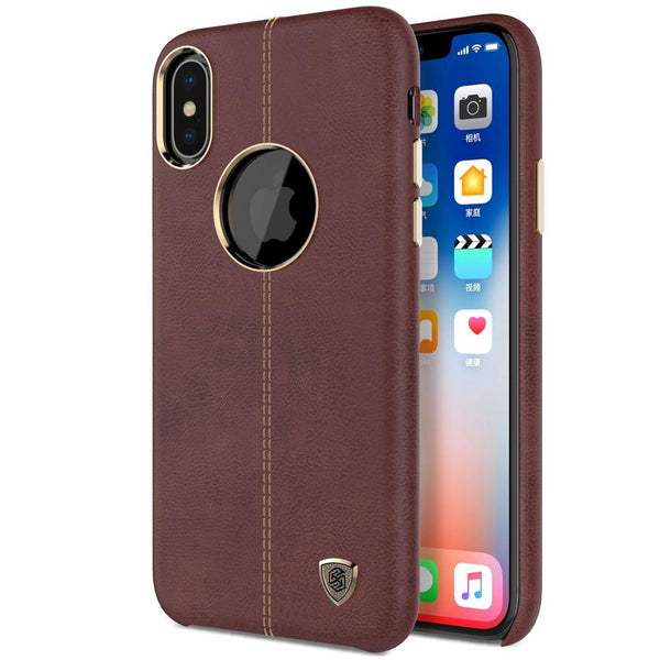 iPhone X Vintage Leather w/ Magnetic Card Holder Case