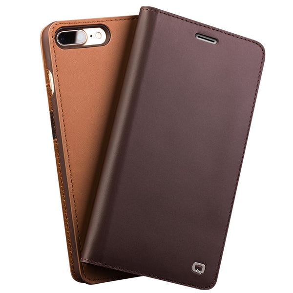iPhone 8/8 Plus Luxury Genuine Leather Flip Case