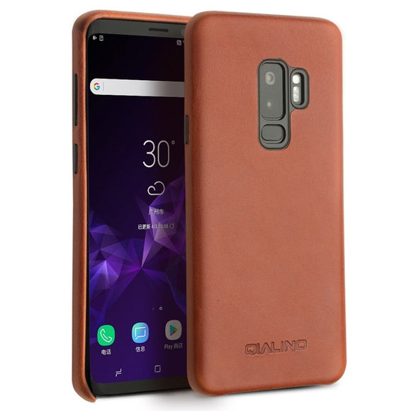 Galaxy S9 Plus Case Genuine Leather Ultra Thin