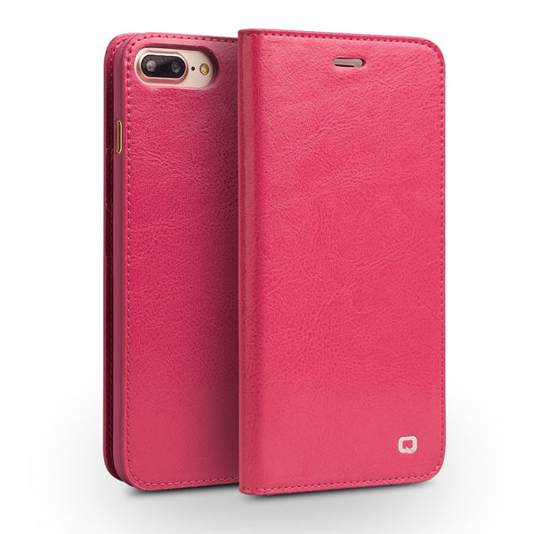 iPhone 7 and Up - Plus Genuine Leather Wallet Case