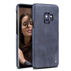 Galaxy S9 Plus Case Smooth Vintage Leather