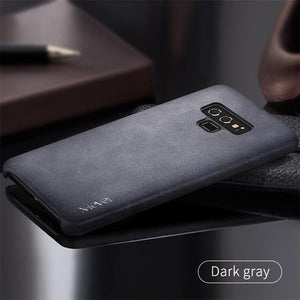 Galaxy Note 9 Case Smooth Vintage Leather