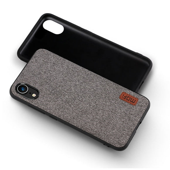 iPhone XR case Fabric PU Leather