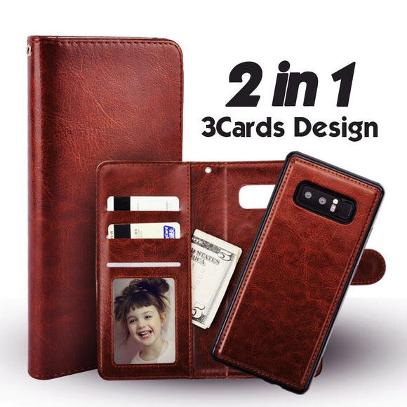 Galaxy Note 9 Case Magnetic Detachable Wallet Flip Cover