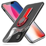 iPhone XR Case Metal Finger Ring Stand