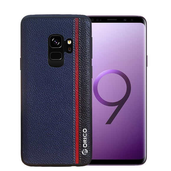 Galaxy S9 Plus Case Tricolor Genuine Leather