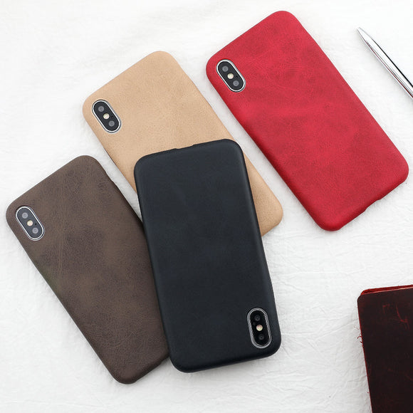 iPhone (All Model) Case Slim Luxury PU Leather