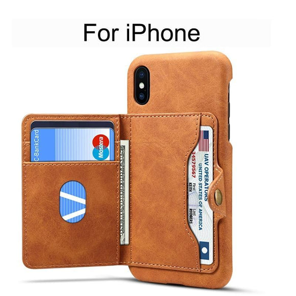 iPhone 7/8 Plus Case Card Slot Leather Stand