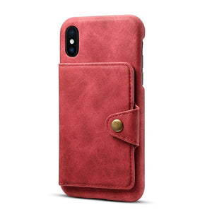 iPhone X/XS Case Card Slot Leather Stand