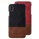iPhone XR Case Business Style Genuine Real Leather Cover