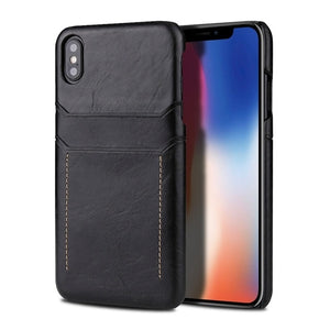 iPhone XS Max Case Business Style Card Holder Leather Cover