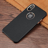 iPhone XS Max Case Luxury Soft Ultra Thin Genuine Leather Cover