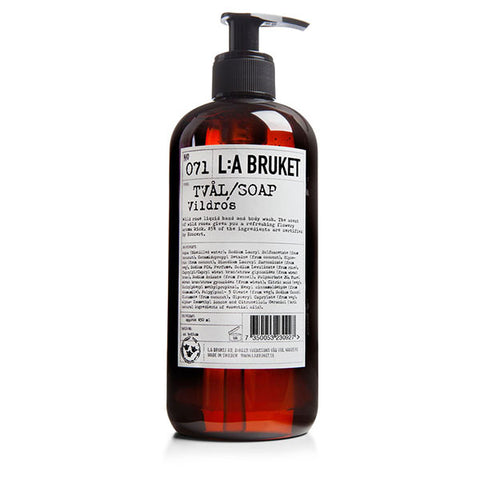 L:A BRUKET - N°071 WILD ROSE LIQUID SOAP - 100%有機野玫瑰潔手沐浴液