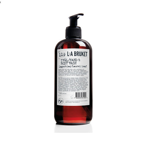 L:A BRUKET - N°119 LAUREL LEAF LIQUID SOAP - 100%有機月桂葉潔手沐浴液