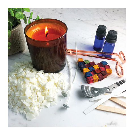 Handpour soy wax candle making diy kit