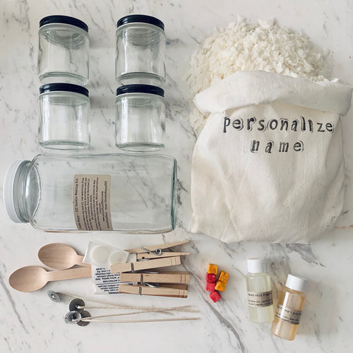 Soy Candle Making DIY Kit - Four Glass Jars