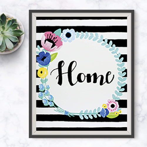 Home Sweet Home Wreath Painting