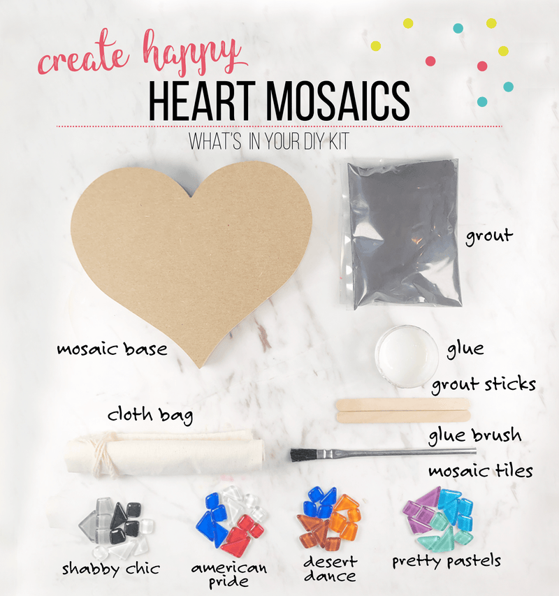 Mosaic Heart DIY Craft Kit