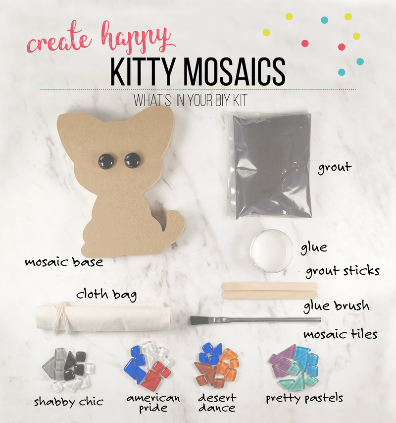 Mosaic Kitty DIY Craft Kit