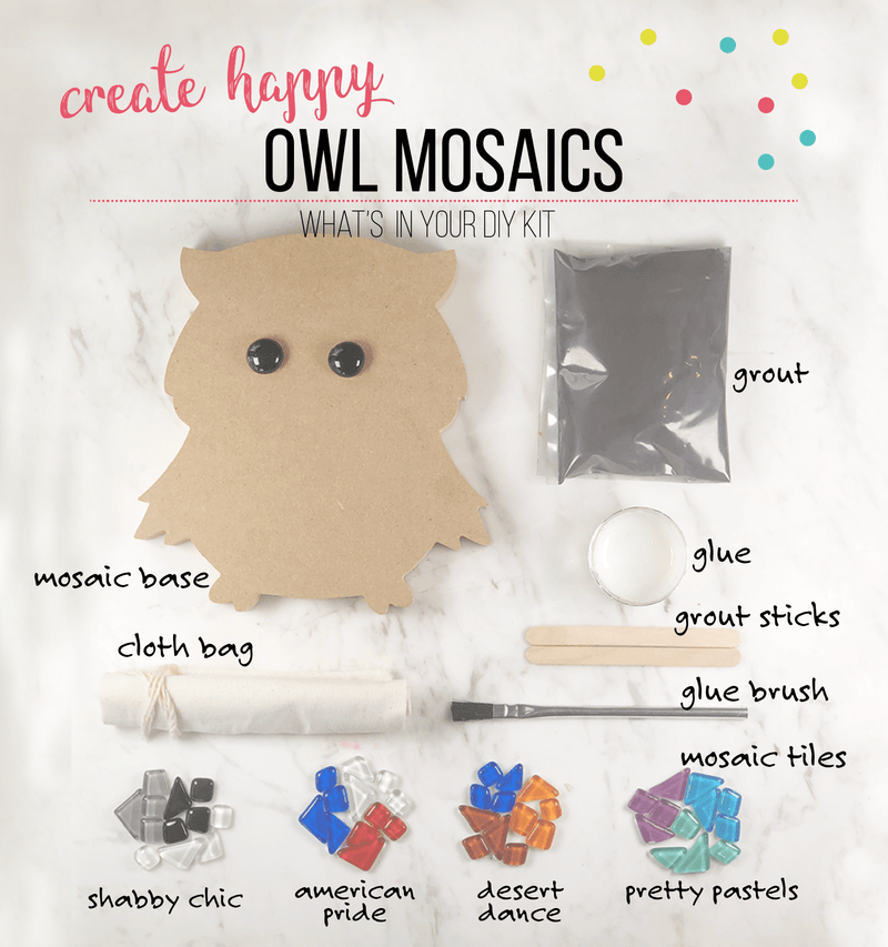 Mosaic Owl DIY Craft Kit