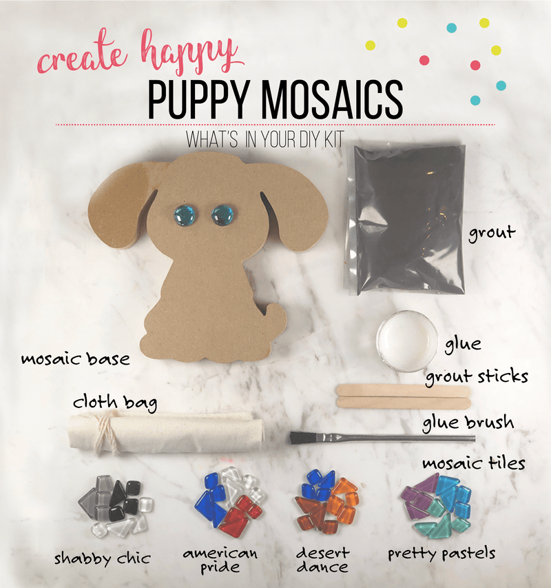 Mosaic Puppy DIY Craft  Kit