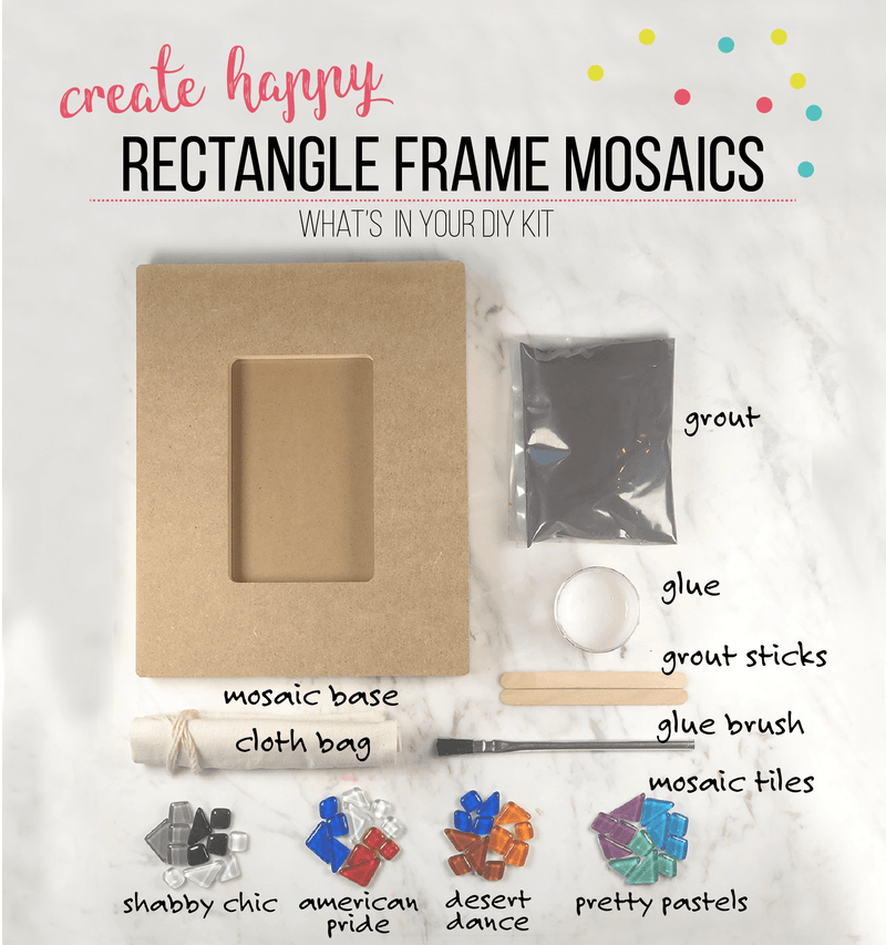 Mosaic Rectangle Picture Frame DIY Craft Kit