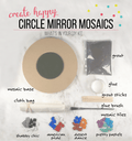Mosaic Round Mirror DIY Craft Kit
