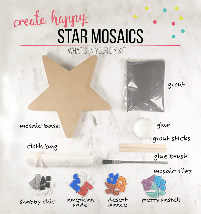 Mosaic Star DIY Craft Kit