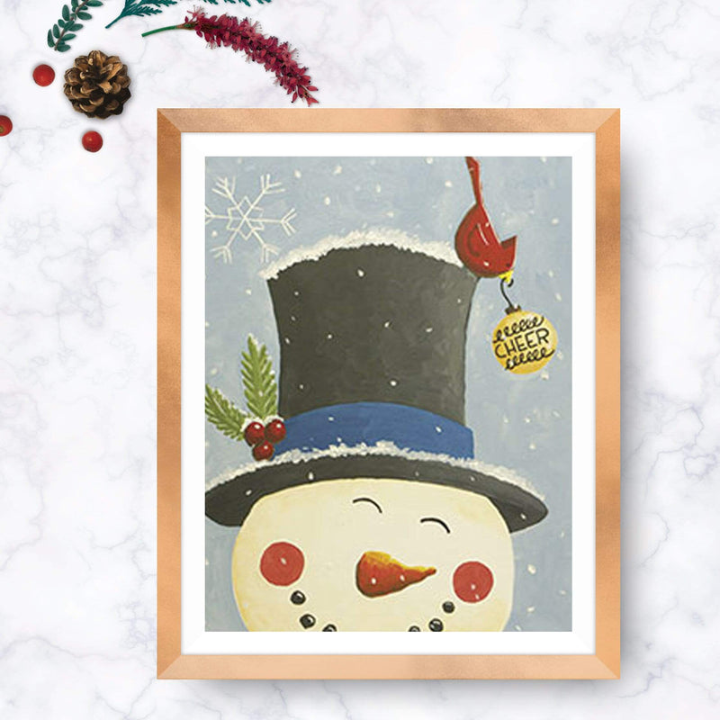 Snowman Spreading Cheer Painting
