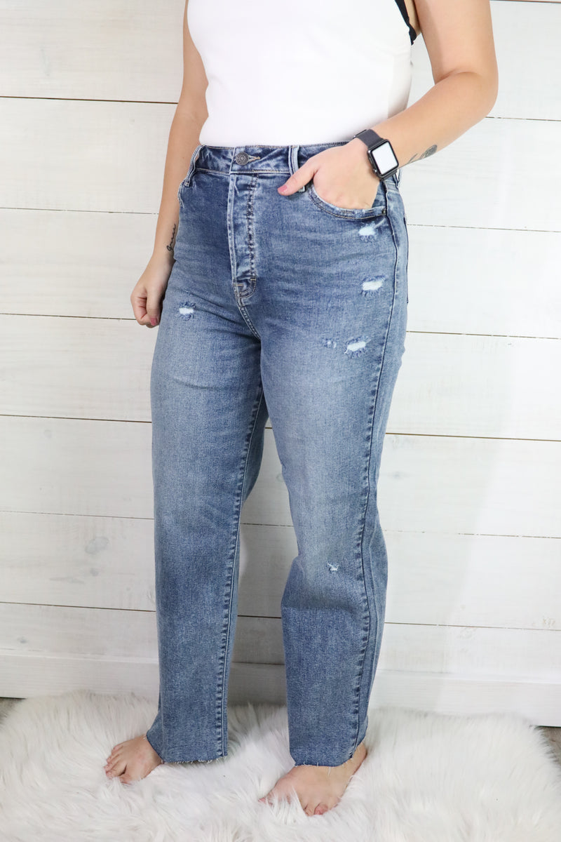 Hidden Tracey High Rise Straight Crop Jeans