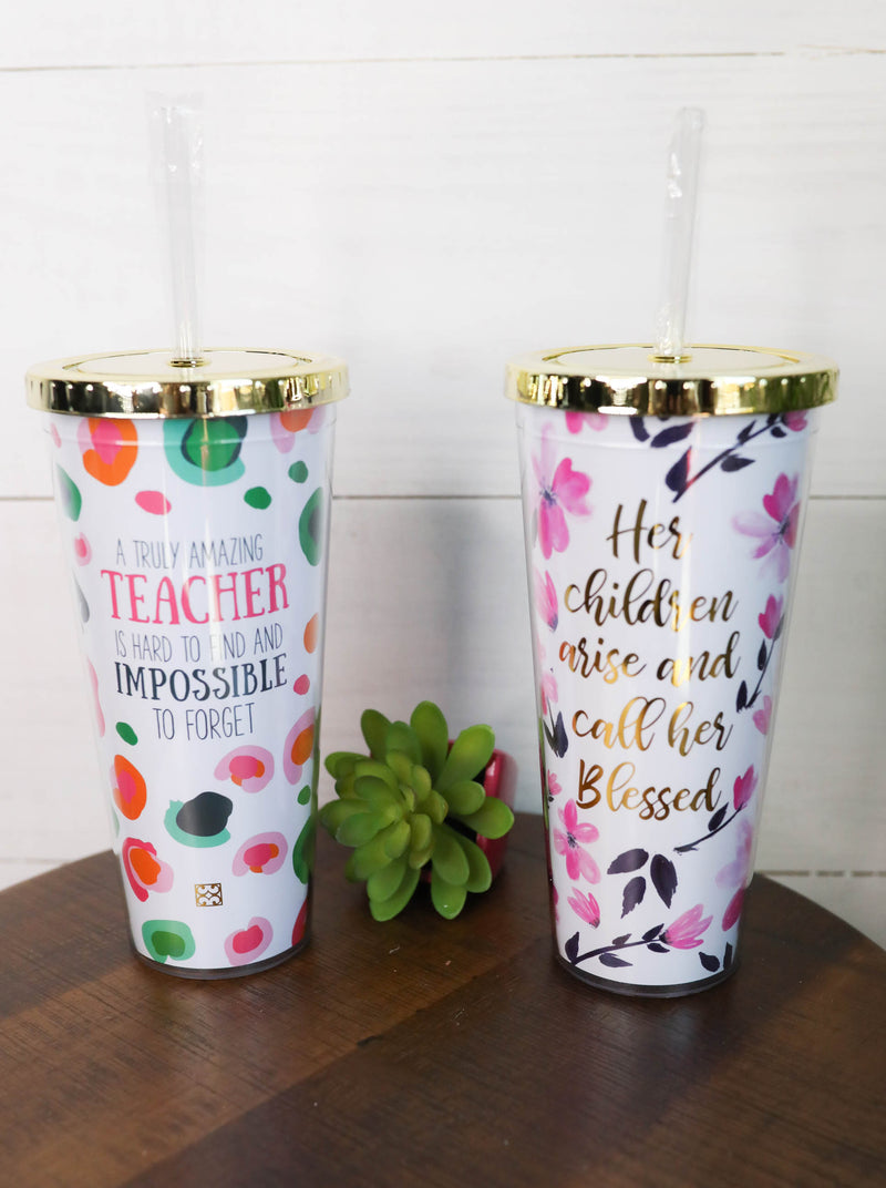 Mary Square Straw Tumblers,Gifts
