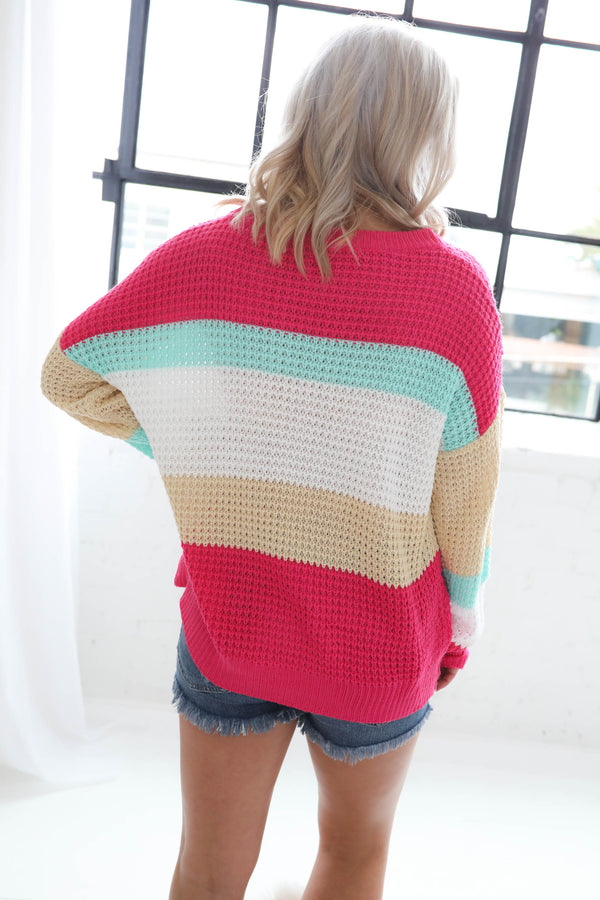 Rainbow Colorblock Sweater