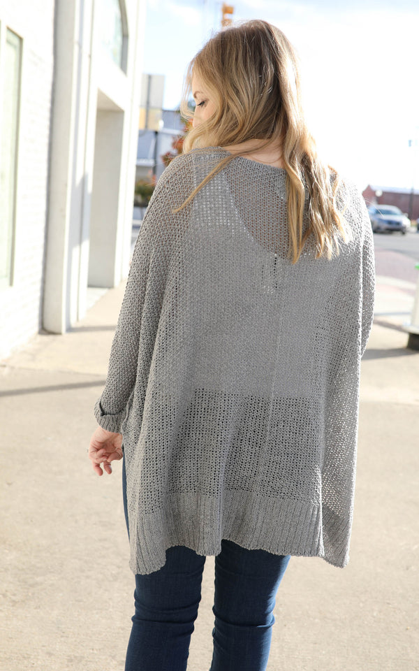 Simple Times Loose Fit Knit Sweater